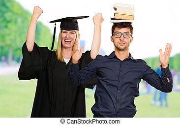Portrait Of Two Graduate Students