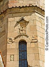 Géorgie, vieux, orthodoxe,  jvari, église,  façade