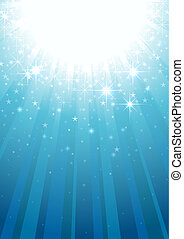 Magic Light Rays - Abstract Background Illustration, Vector