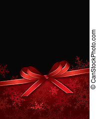 christmas background with bow - christmas background with...