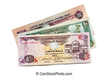 UAE Currency Isolated - United Arab Emirates dirham...