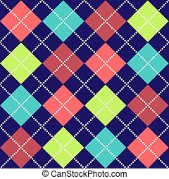 Bold Argyle Pattern - Bold Argyle background pattern in...