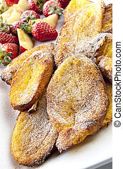 Oven French Toast with Fruit - Oven baked French Toast with...