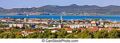 Dalmatian city of Zadar panoramic view with Island of...