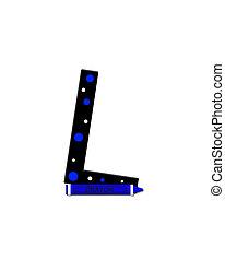 Alphabet Black to School L - The letter L, in the alphabet...