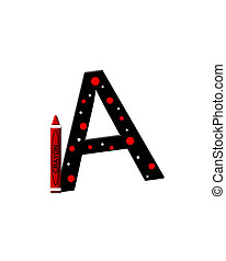 Alphabet Black to School A - The letter A, in the alphabet...