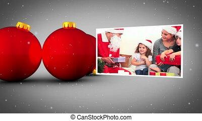 Christmas red balls animation
