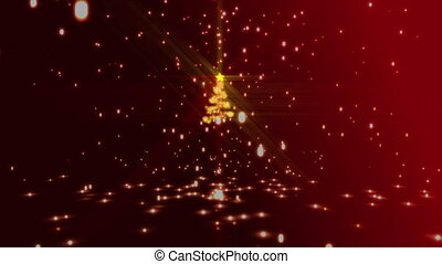 Merry christmas animation - Christmas tree animation with...