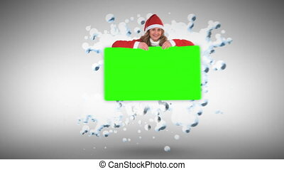 Christmas animation with green screen against white...