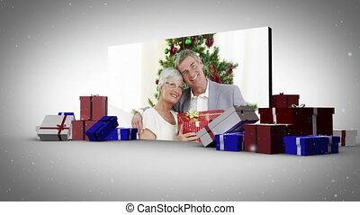 Big screen christmas animation