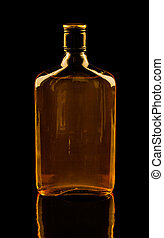 Isolated whisky on black - Isolated with clipping paths...
