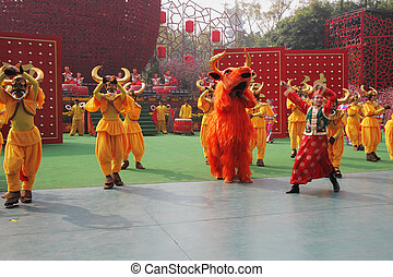 The dance ensemble - Chinese New Year. Speech by the dance...