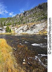 The multi-coloured river