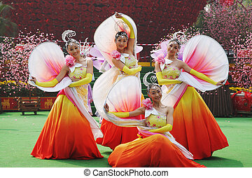 Chinese dance group - Chinese New Year Chinese dance group...