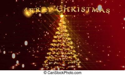 Family's preparing tree animations - Christmas tree and...