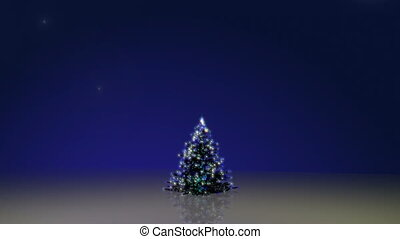 Christmas tree with green screens a - Christmas tree with...