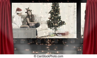 Theater and christmas animation