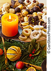 cookies and biscuits for christmas - a plate of cookies for...