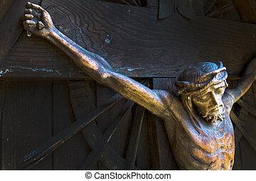 crucificação, Jesus, christ
