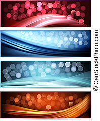 Set of abstract banners. - Set of abstract holiday colorful...