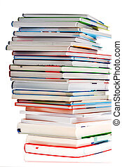 stack of books. isolated and isolated against white...