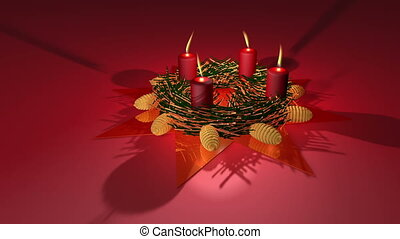 Advent wreath - Animation about Christmas - Advent wreath...