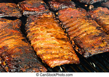 Barbecue Ribs on the Grill