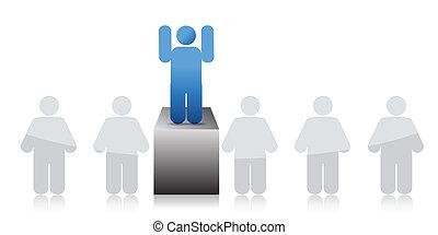 leader on top concept illustration design over white