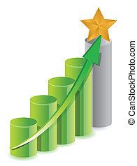 gold star in top of graph