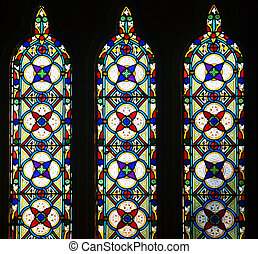 Stained Glass Windows - Three Stained Glass Windows