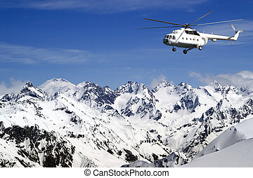 Heliski in high mountains