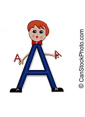 Alphabet Living Letters A