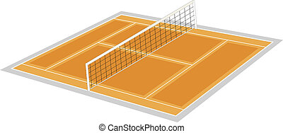 volley ball ground - illustration ofvolley ball ground on a...
