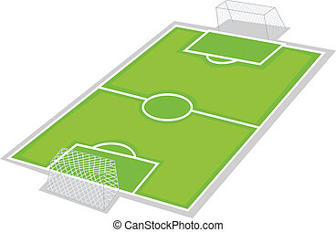 football ground - illustration of football ground on a white