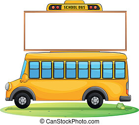 a school bus and board - illustration of a school bus and...