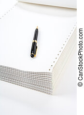 Computer Paper - Perforated Computer Paper for background