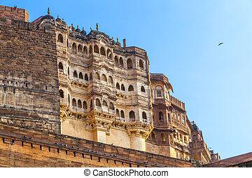 meherangarh fort - jodhpur - india - famous meherangarh fort...