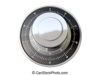 Combination Dial Top - A regular metal safe combination dial...