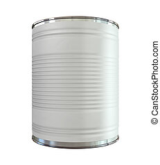 Tin Can with Label Front - An everyday aluminium tin can...