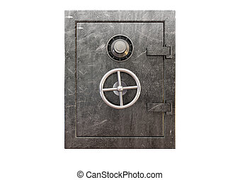 Metal Safe Front - A regular metal safe with a combination...