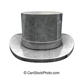 Die-cast Top Hat - A slightly scratched die-cast top hat on...