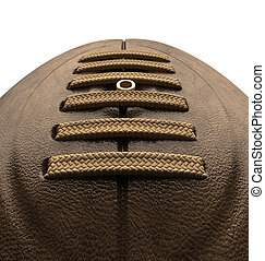 Old Classic Retro Rugby Ball Close Up - An closeup of old...