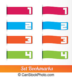Bookmarks icon set templates