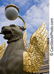 The famous winged lions in Russia.
