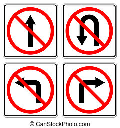4 Do not do on red circle traffic sign on white background