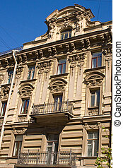 architecture of buildings in downtown St. Petersburg. Russia.