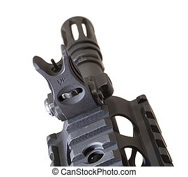 Folding front sight - Front sight that folds down on front...