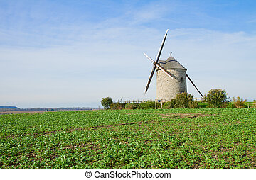 Traditional windmill - Le Moulin Moidrey,  France