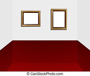 gold frame in modern room