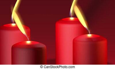 burning candles - Animation about Christmas - burning...